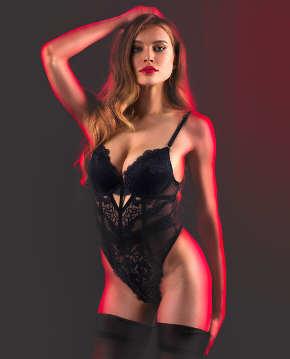 Push Up Bodysuit Smoulder Black 1