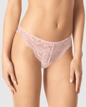 Thong Panty Black with Nude 1