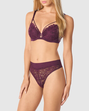 Lightly Lined Full Coverage Bra Ruby Wine 1