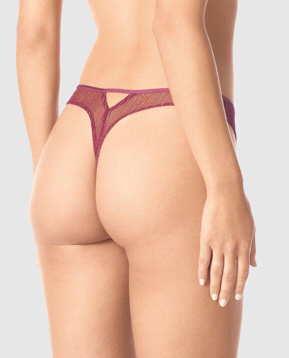 High Leg Thong Panty Bayberry 2
