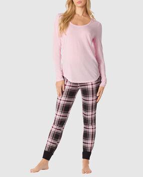 The Selfie Pajama Set Red & Black Plaid 1