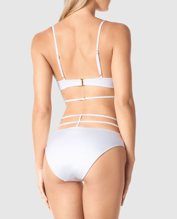 Push Up Triangle Bikini Top White 2