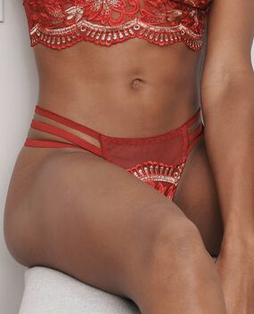 Exlir Strappy Thong Panty Ruby 1