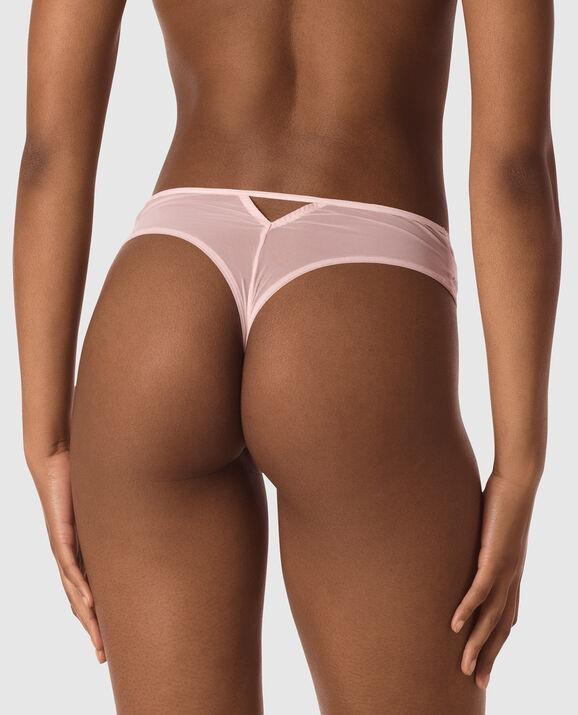 High Waist Thong Panty Pink Fizz 2