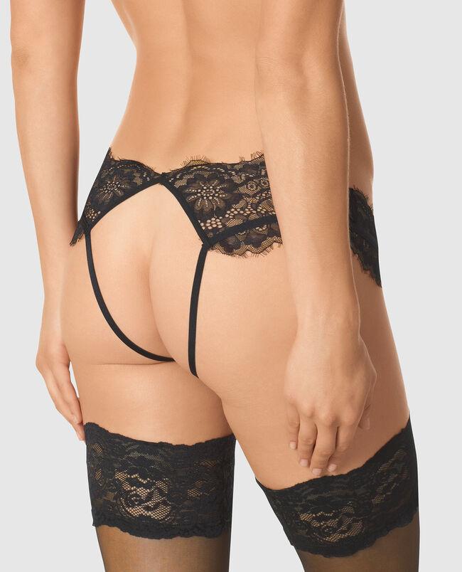Bumless Crotchless Garter Panty