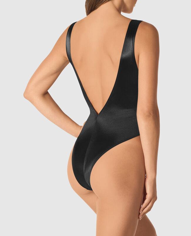 Microfiber Cut-Out Bodysuit