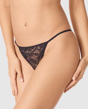 G-String  Panty Smoulder Black 1