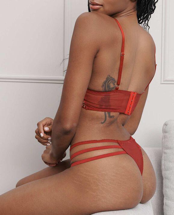 Exlir Lace Bralette Ruby 2