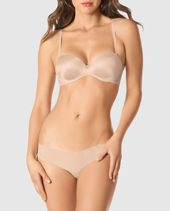 Strapless Lightly Lined Bra Rose Tan 3