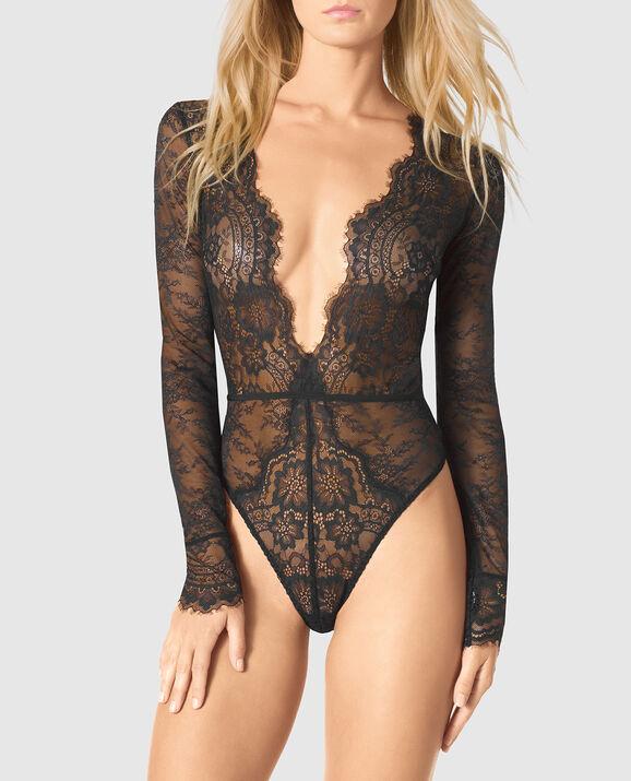 d575021957 Long Sleeve Lace Bodysuit