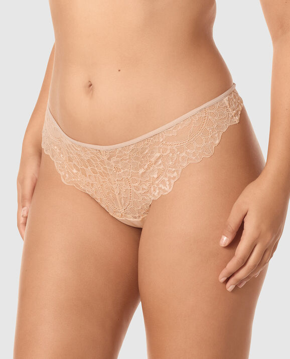 Thong Panty Rose Tan 1