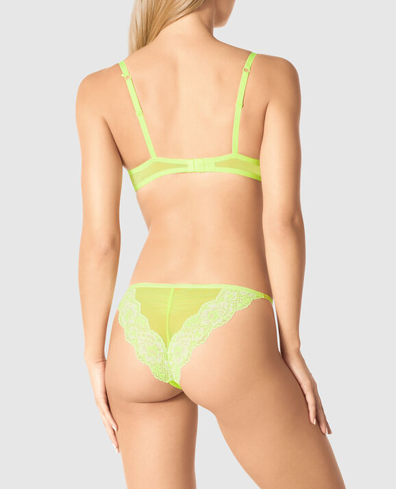Light Push Up Bra Lightning Lime 2