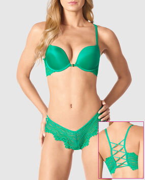 Front-Close Push Up Bra Malachite Green 1