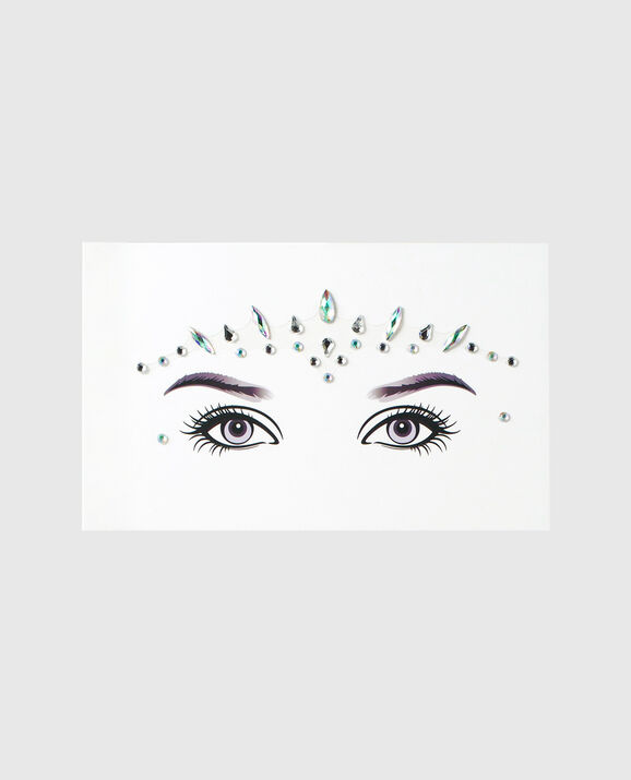 Stick On Face Jewels Silver 1