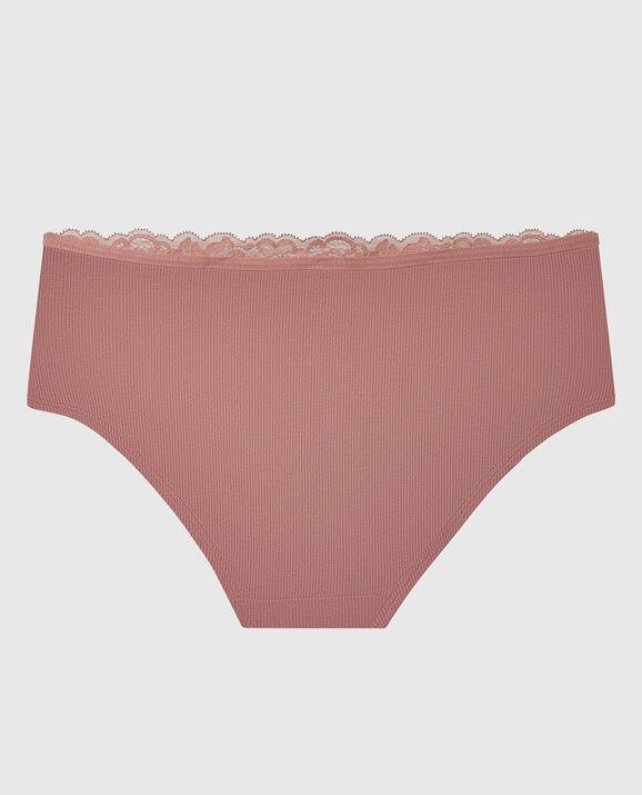 Ribbed Hipster Panty Vintage Rose 2