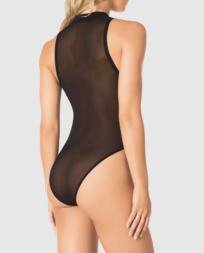 Sleeveless Mesh Bodysuit