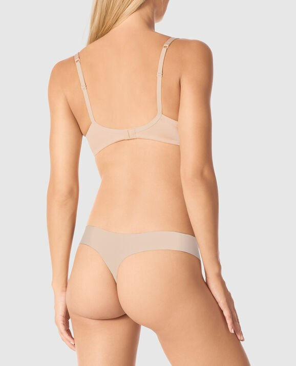 Lightly Lined Balconette Bra Rose Tan 2