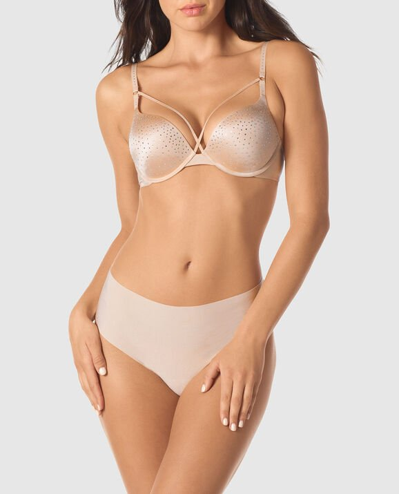 Up 2 Cup Push Up Bra New Nude 1