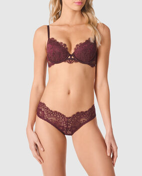 Lightly Lined Demi Bra Espresso 1