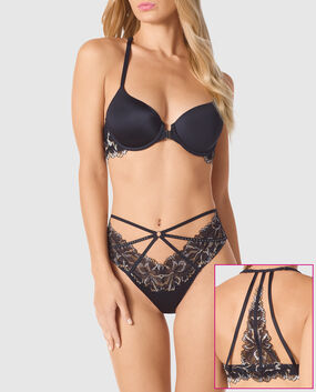Front-Close Full Coverage Bra Smoulder Black 1