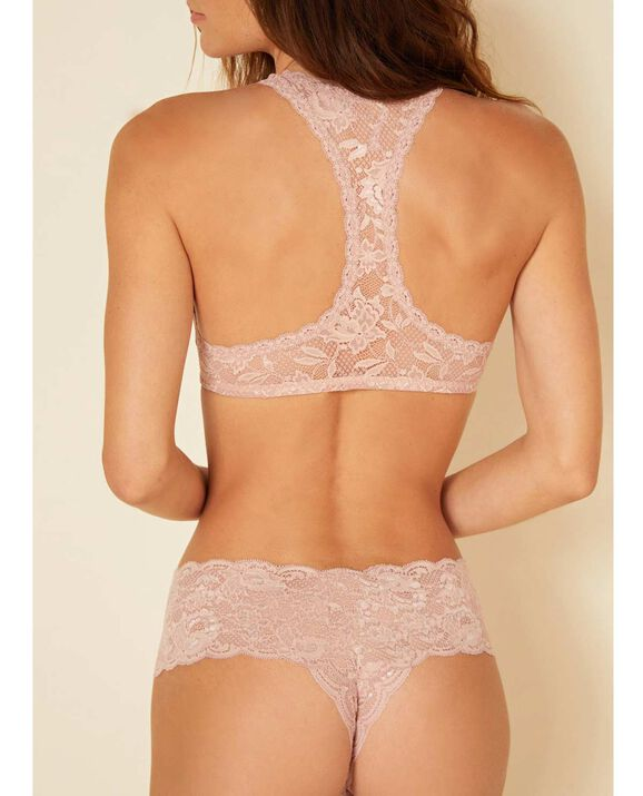 Never Say Never Racie Racerback Bralette Rose Tan 2