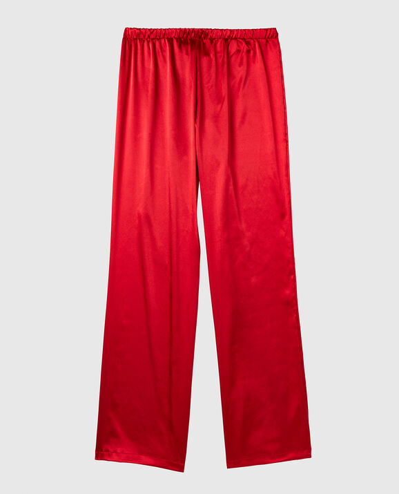 Satin Pant Cosmo Red 2