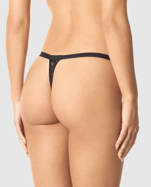 Crotchless Zipper Thong Panty Smoulder Black 2