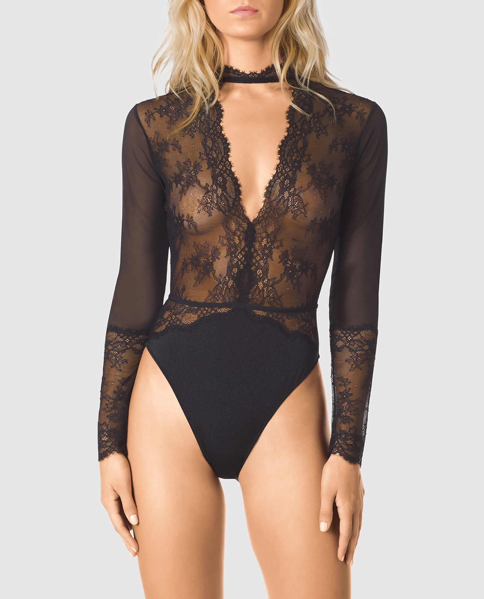 319fe9eef Long Sleeve Lace Bodysuit - 24SEXY New Arrivals - La Senza Lingerie