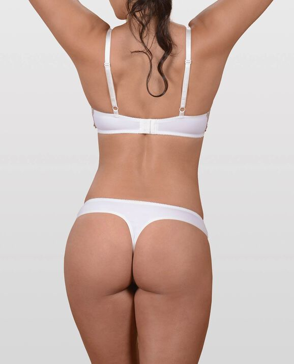 The Flawless Lace Side Bra White 2
