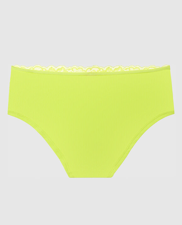 Ribbed Hipster Panty Limelight 2