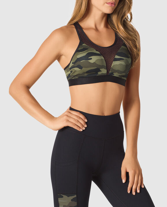 Push Up Sports Bra Camo 3