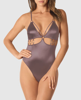 Lightly Lined Microfiber Bodysuit
