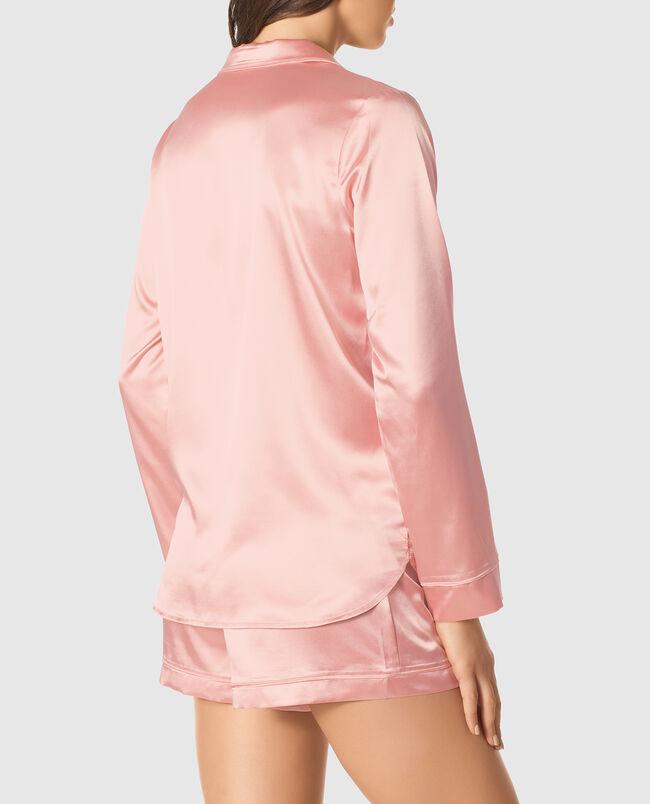 Satin Shirt & Short Set