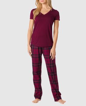 The Cozy Pajama Set Red Plaid 1