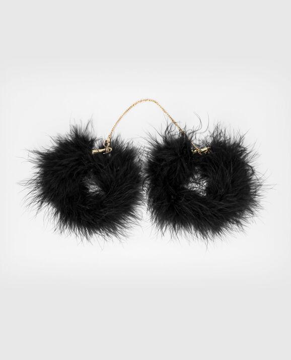 Fur Handcuffs Smoulder Black 1
