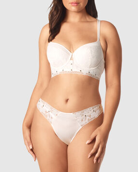 Lightly Lined Balconette Bra Coconut White 1