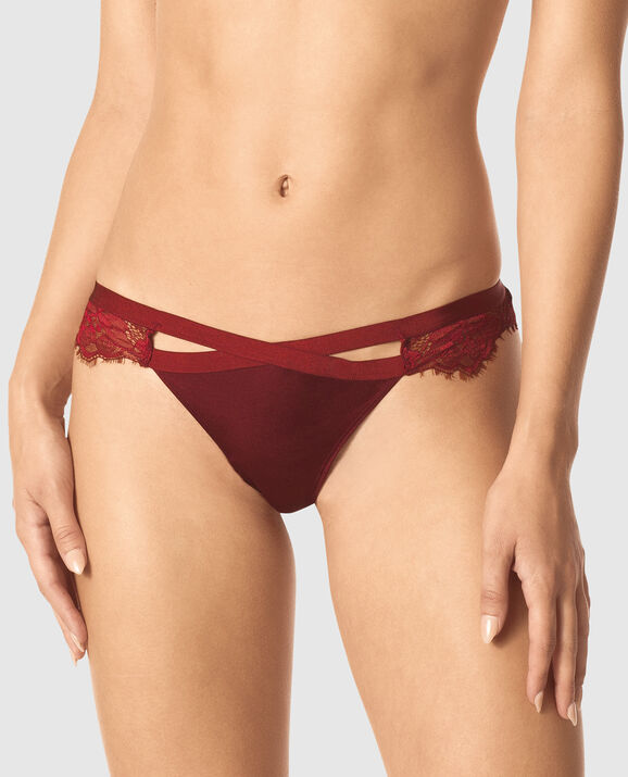 Thong Panty Sangria Red 1