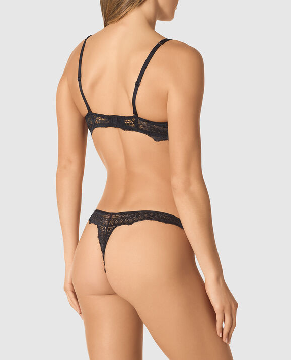 Lightly Lined Full Coverage Bra Smoulder Black 2