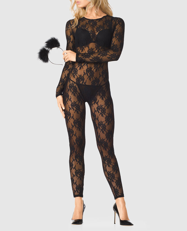 Cat Lace Jumpsuit