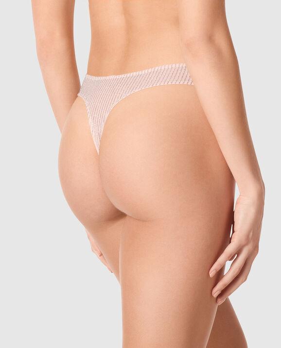 High Leg Thong Panty Pink Fizz 2