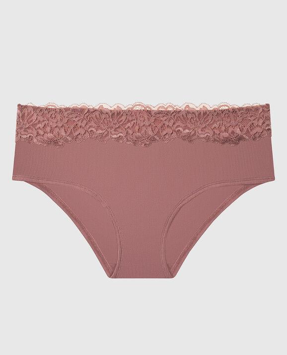 Ribbed Hipster Panty Vintage Rose 1