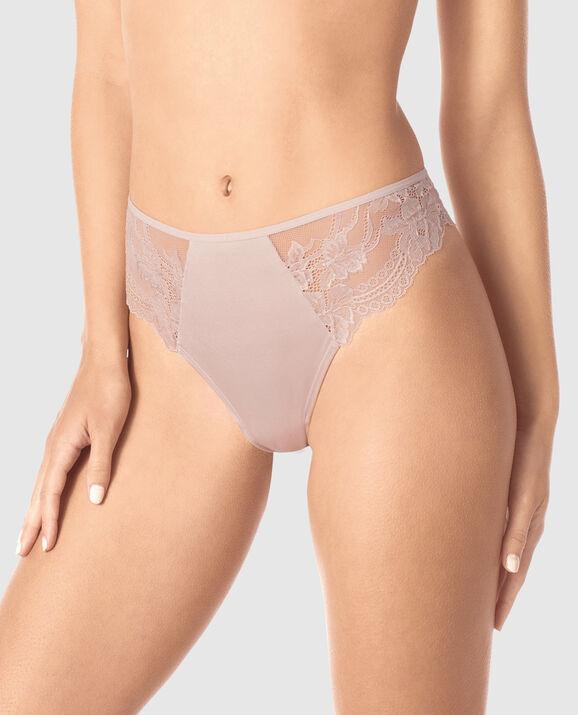 High Waist Thong Panty Lavender Stone 1