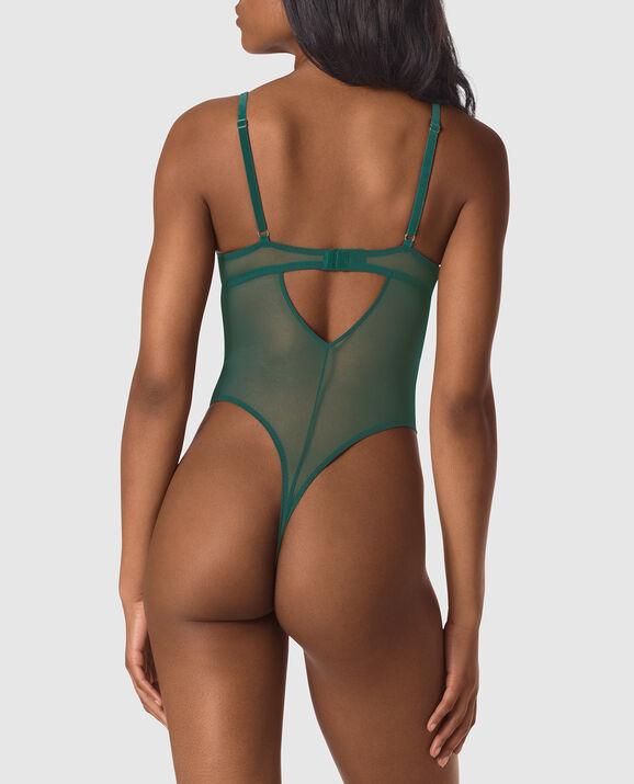Push Up Lace Bodysuit Teal Coast 2