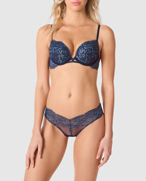 Push Up Bra Blue Velvet 1