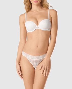 Lightly Lined Demi Bra Ivory 1