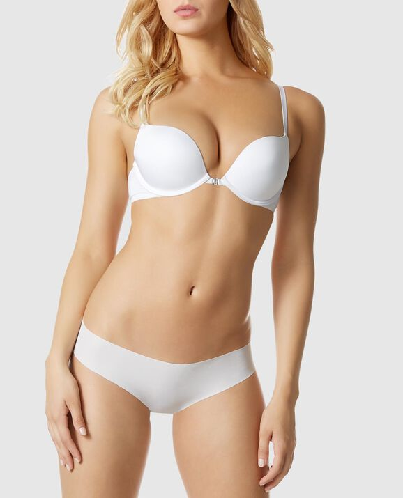 Front-Close Push Up Bra White 1