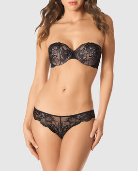 Strapless Lightly Lined Bra Smoulder Black 1