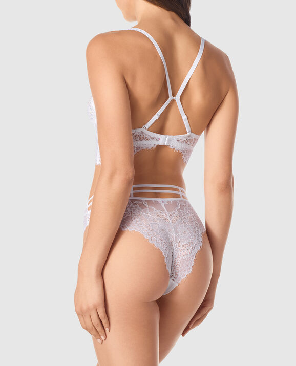 Unlined Demi Bra White 2