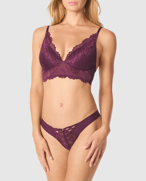 Lightly Lined Wireless Bra Ruby Wine 1