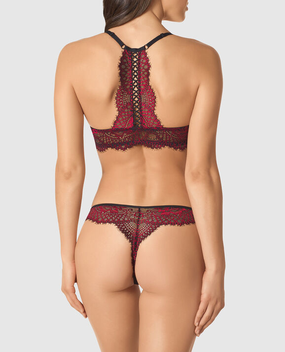 Front-Close Push Up Bra Red Lacquer 2